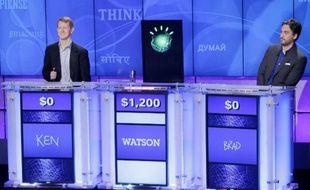 Watson, le superordinateur d'IBM, face à deux champions du jeu Jeopardy