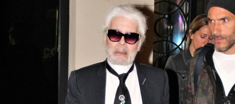 Le styliste Karl Lagerfeld