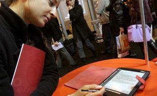 Le livre numérique au Salon du Livre en mars 2008, à Paris