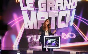 Valérie Bénaïm anime «Le Grand Match» spécial tubes des années 1980, sur D8.