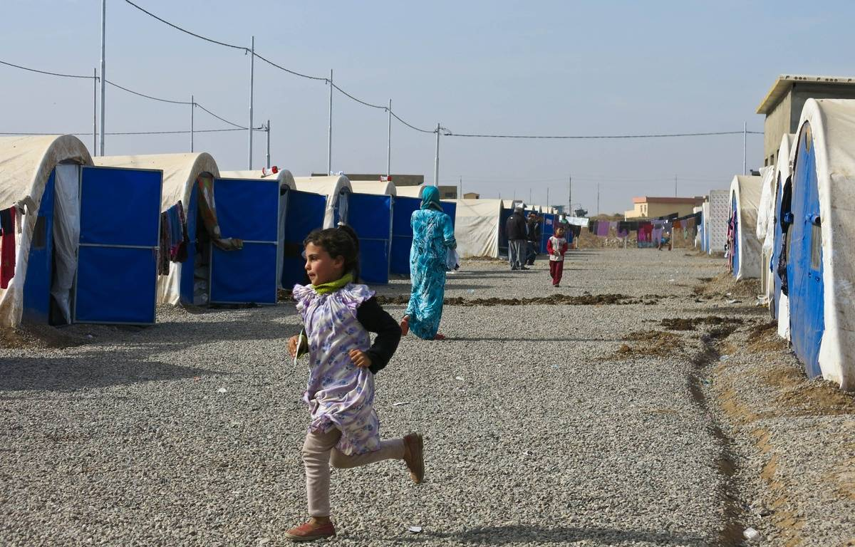 Des enfants au camp de Khazer, en Irak , le 15 novembre 2016. – . Fourt / Handicap International
