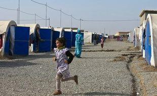 Des enfants au camp de Khazer, en Irak , le 15 novembre 2016.