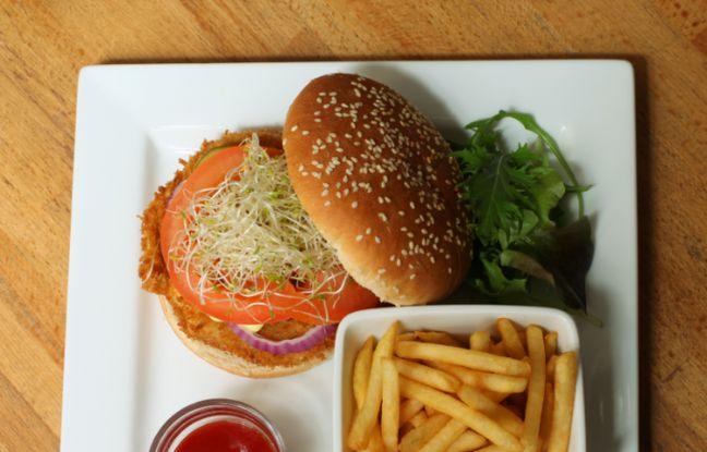 Menu burger veggie à déguster chez Veget'Halles