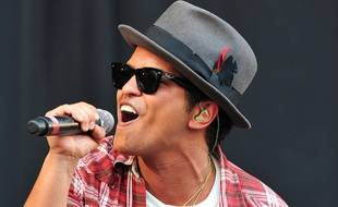 Le chanteur Bruno Mars
