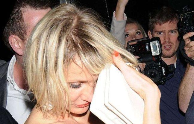 Cameron Diaz quitte le Whisky Mist club de Londres, le 23 mai 2012.
