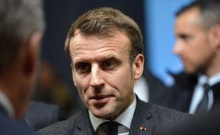 Emmanuel Macron lors d'un déplacement en Haute-Savoie, vendredi 13 février 2020.
