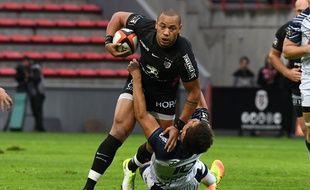Le centre du Stade Toulousain Gaël Fickou contre Agen, le 30 septembre 2017 au stade Ernest-Wallon.