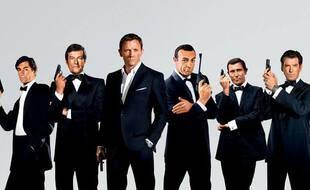 Les six acteurs ayant incarné James Bond