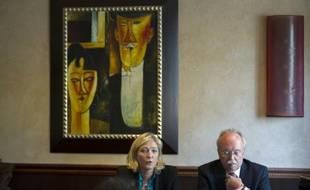 Marine Le Pen et Wallerand de Saint Just le 26 juin 2013 à Paris