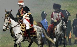 Une reconstitution historique de la bataille de Waterloo, le 17 juin 2012 à Waterloo en Belgique