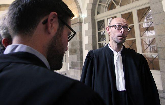 Maître Olivier Pacheu, avocat au barreau de Rennes, ici à la cour d'appel.