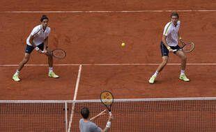 Herbert et Mahut ont battu la paire kazakhe Alexandr Bublik-Andrey Golubev en finale, le 12 juin 2021.