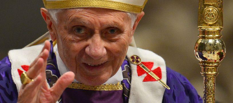Benoît XVI, le 13 février 2013.