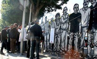 «Les Martyrs» à Tunis, œuvre de Zoo-Project.