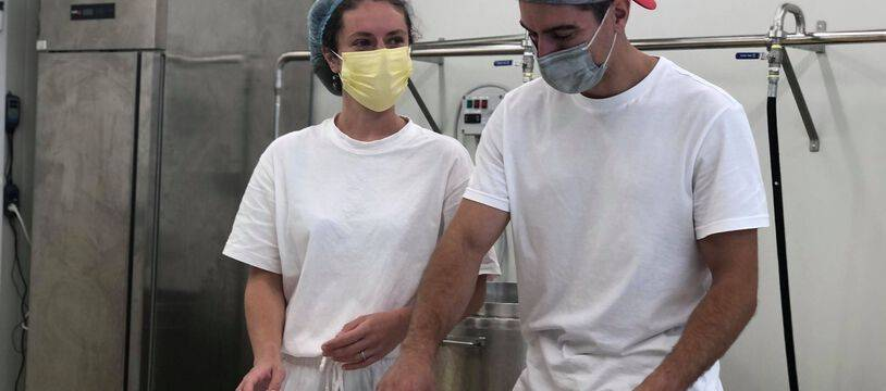 Esther et Benjamin ont ouvert leur laiterie sur l'île de Nantes