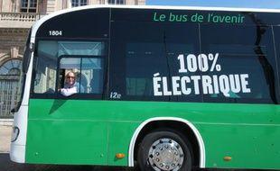 Un nouveau bus électrique à Marseille, le 6 juin 2016