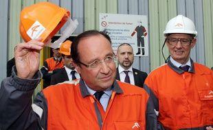 François Hollande à Florange, le 26 septembre 2013.