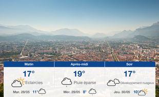 Météo Grenoble: Prévisions du lundi 27 mai 2019