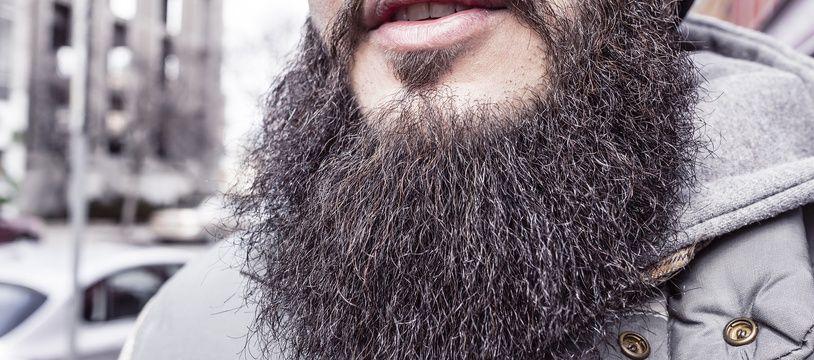 Un homme barbu. Illustration.