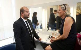 David Rachline et marine Le Pen, en septembre 2018, à Fréjus.