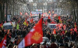 La manifestation contre la réforme des retraites le 9 janvier 2019, à Toulouse.