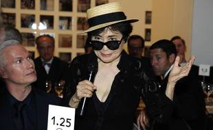 Yoko Ono, le 25 juin 2015 au MoMA à New-York . Sipany/Sipa
