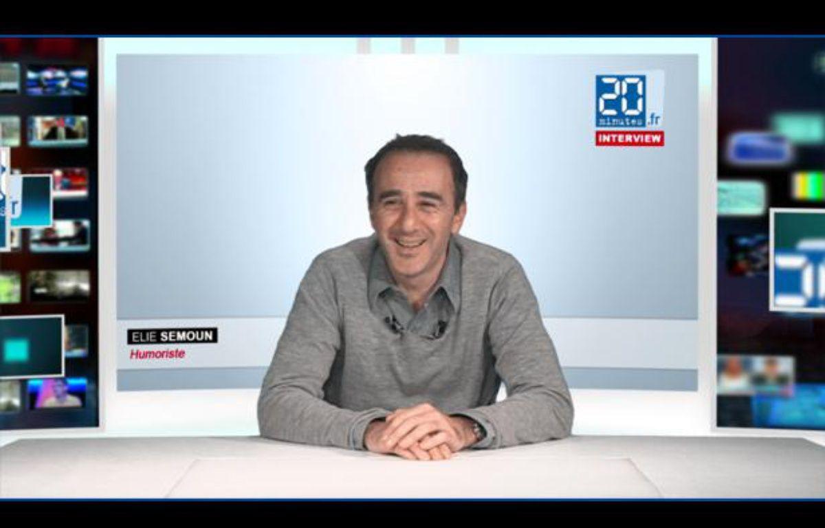 Elie Semoun dans le studio TV de 20 Minutes en novembre 2012. – 20 MINUTES