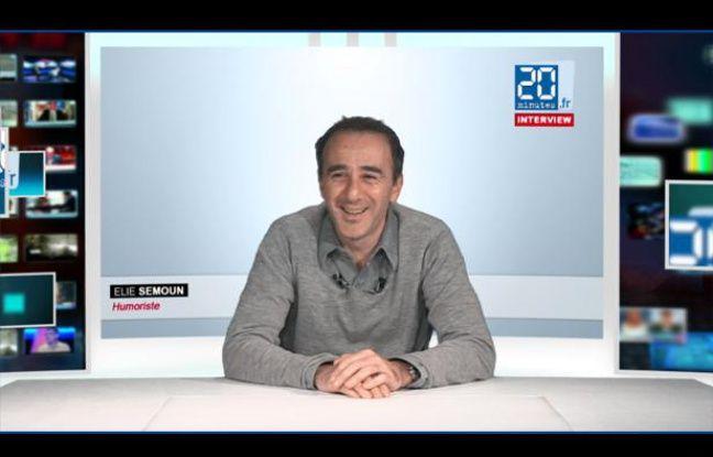 Elie Semoun dans le studio TV de 20 Minutes en novembre 2012.