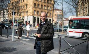 Etienne Tête, candidat EELV aux municipales à Lyon, le 15 mars 2014