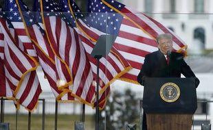 Donald Trump lors de la manifestation du 6 janvier, devant la Maison-Blanche.