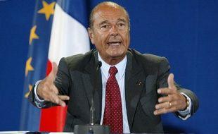 Jacques Chirac au sommet de la Terre de Johannesburg le 3 septembre 2002