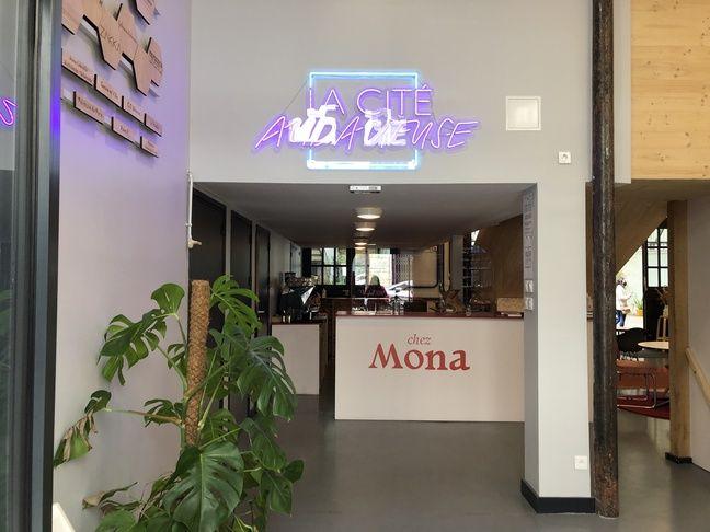 L'entrée de la Cité Audacieuse, un lieu dédié au féminisme qui accueille les locaux de l'association En Avant Toutes.