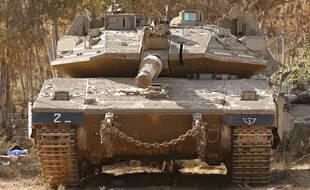 Un char israélien, le 16 mai 2021.