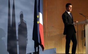 Le Premier ministre Manuel Valls, le 16 octobre 2015 à l'inauguration du musée-mémorial du camp de Rivesaltes (Pyrénées-Orientales)