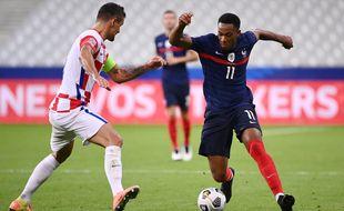 Dejan Lovren face à Anthony Martial lors de France-Croatie, le 8 septembre 2020 au Stade de France.