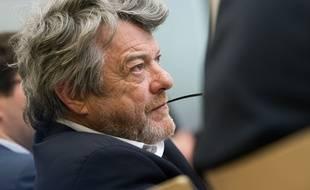 Jean-Louis Borloo, ancien ministre de l'Environnement lors d'une conférence de presse le 18 janvier 2018.
