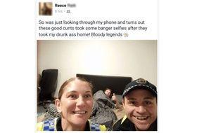 Après une soirée arrosée, il découvre un selfie laissé par des policiers dans son portable