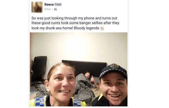 Ivre, ils le raccompagnent et lui laissent un selfie — Australie