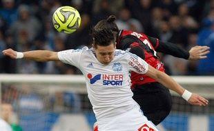 Florian Thauvin lors du match entre l'OM et Guingamp le 18 janvier 2015.