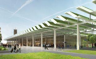 Image de synthèse de l'ex-futur aéroport de Notre-Dame-des-Landes.