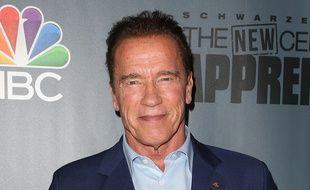 L'acteur Arnold Schwarzenegger aux studios Universal