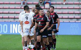 Le Stade Toulousain lors de la victoire en Top 14 sur La Rochelle (39-23), samedi au stade Ernest-Wallon.