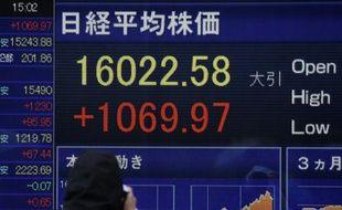 L'indice Nikkei de la Bourse de Tokyo, le 15 février 2016