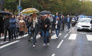 Marche de policiers le 26 octobre 2016.