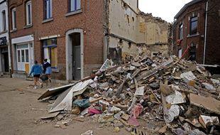 La commune de Vaux-sous-Chevremont en Belgique a été durement touchée.
