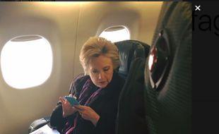 Capture d'écran de la photo d'Hillary Clinton postée sur Twitter vendredi 3 mars 2017.