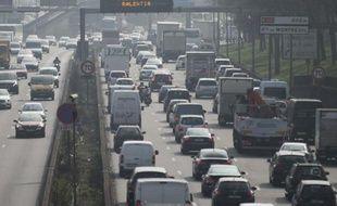 Pollution sur le périphérique parisien, le 18 mars 2015