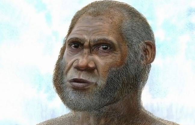Illustration d'un homme qui vivait il y a 14.000 ans à Maludong, en Chine.