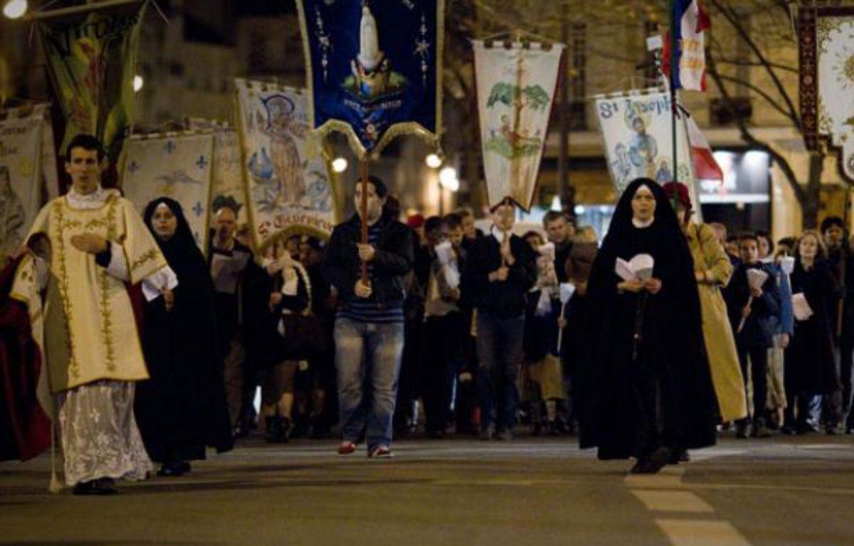Manifestation le 8 Décembre 2011 à Paris, contre «Golgota Picnic» – JOEL SAGET / AFP