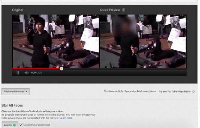 La plateforme de partage de vidéos YouTube se dote d'un outil permettant de flouter des visages.